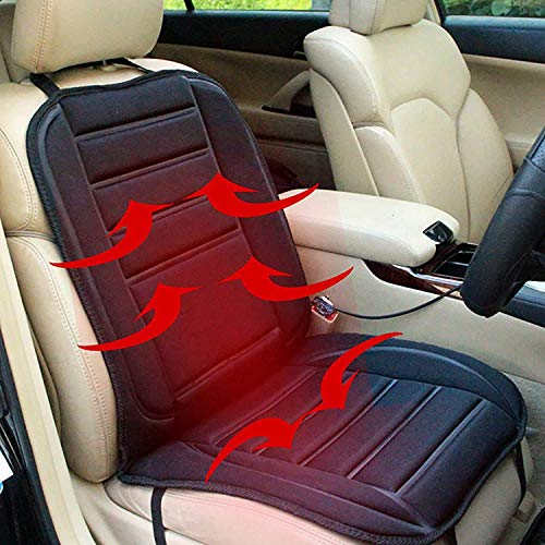 Heated Seat Cushion,Andees 12V Car 24V Truck Seat Heaterheated seat Covers Pad Nonslip for Cars Winter Warmer - Comfortable Heated Seat Cover Universal Fit for Auto Supplies Home Office (Pad)