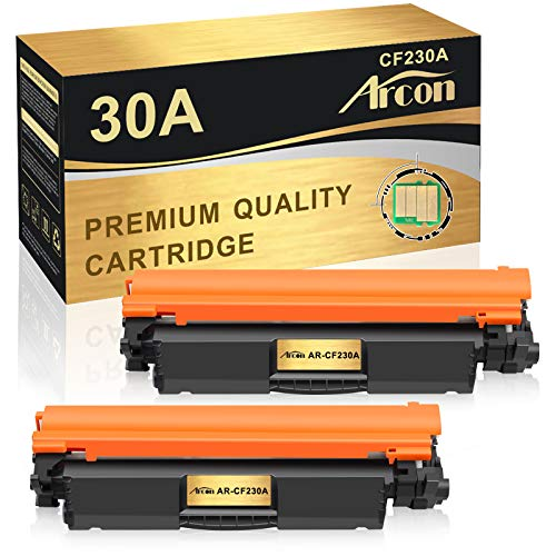 Arcon Compatible Toner Cartridge Replacement for HP 30A 30X CF230A M203dw M227fdw HP Laserjet Pro MFP M203dw M227fdw M227fdn 203dw 227fdw 227fdn HP Laserjet Pro M203d M203dn M227sdn M227 M203 (2Pack)