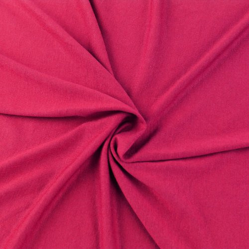 HOT Pink Knit Fabric, Rayon Jersey Knit Fabric, Causal Jersey Knit Fabric, Knitting Fabric by The Yard - 1 Yard