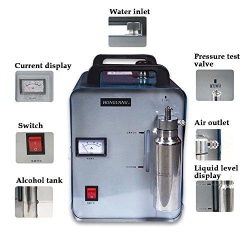 Schweißer Flamme Poliermaschine YUNRUX Sauerstoff Wasserstoff Generator Wasser Schweißer Torch Metal Welder H180 95L