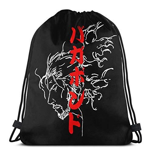 WH-CLA Drawstring Backpack Vespa Haruko Haruhara Flcl Drawstring Backpack Lightweight Women Sack Anime Unique Favor Bags Wrapping Gift Bag Drawstring Bag Travel Storage Goodie Bags Durab