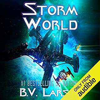 Storm World     Undying Mercenaries, Book 10              Written by:                                                                                                                                 B. V. Larson                               Narrated by:                                                                                                                                 Mark Boyett                      Length: 16 hrs and 6 mins     34 ratings     Overall 4.6