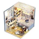 Macro PTUYZHYX Hut Puzzle, Kit de la casa de muñecas DIY Miniatura de Madera Hecho a Mano amueblado con Accesorios con Montaje Musical