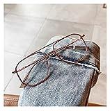 Gafas de Lectura, Vidrios Anti-BLU- Ray de Mujeres y Hombres, Puentes Dobles Cuadrados Retro, Bisagra de la Primavera de Moda, Gafas de computadora ópticas (Color : Rose-Gold, Size : 0)