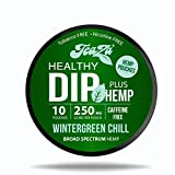 TeaZa Energy Smokeless Alternative with Hemp | Quit Chewing and Dipping Snuff | Nicotine and Caffeine Free Herbal Energy Pouch (Wintergreen Chill, 1 Pack)
