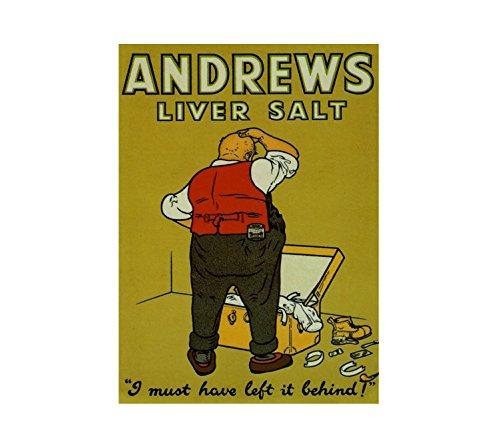 Andrews - Placa de pared con texto 'I must have left it back', estilo vintage, estilo vintage, con texto 'I must have left it back' (A3)