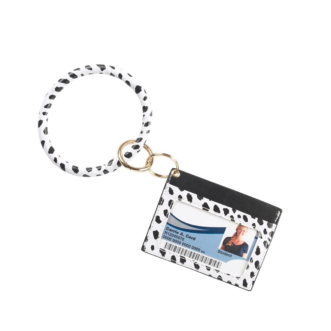 Black White Spots Wristlet Card Holder Max 64% OFF Inexpensive