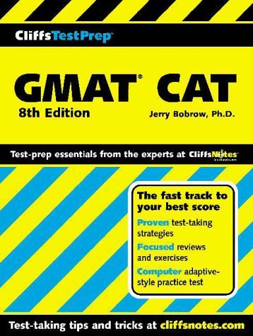 CliffsTestPrep GMAT AT (Computer-Adaptive Graduate Management Admission Test) (Cliffs Test Prep GMAT CAT) by Jerry Bobrow Ph.D. (2000-09-11)