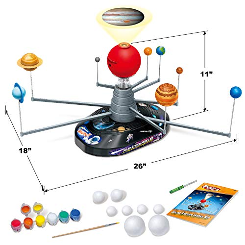 Product Image 8: Playz Solar System Model Kit with 4 Speed Motor, HD Planetarium Projector, 8 Painted Planets, and 8 White Foam Balls with Paint and Brush for a Hands-On STEM DIY Project