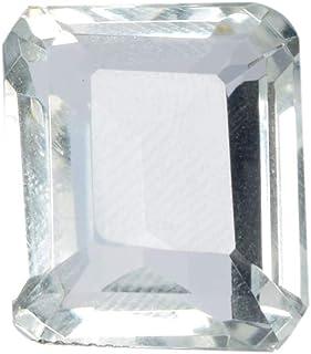 White Topaz 21.50 Ct Brazilian Topaz Faceted Emerald White Topaz Gemstone Loose