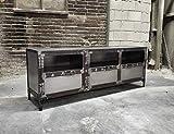 FidgetGear - Aparador para televisión (acero, tamaño único), diseño industrial