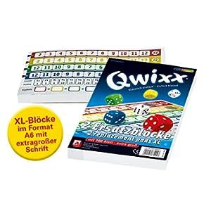 NSV - 4021 - QWIXX XL - blocchi sostitutivi - gioco dei dadi