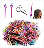 Hair Ties Remover Elastic Hair Bands Remover Cutter Rubber Band Knife Topsy Hair Tail Tool 2000pcs Colored Rubber Hair Ties
