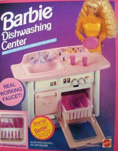 Barbie -Barbie Centro de Lavavajillas de Cocina con Grifo de Trabajo Real! 1993