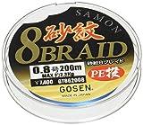 ゴーセン(GOSEN) PEライン 砂紋 8ブレイド 200m 0.8号 7.3kg 4色分け GT862008
