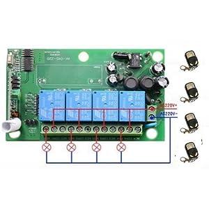 Rcepteur-4-canaux-220-V-4-tlcommandes-avec-contacts-propres-pour-portails-et-volets