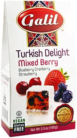 Galil Mixed Berry Turkish Delight 3 5 Ounce Pack of 6 product image