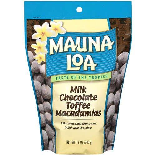 【2袋】MAUNALOA(マウナロア) Milk Chocolate Toffee ミルクチョコレートトフィーマカダミアナッツ 283g (ハワイ土産・海外土産)