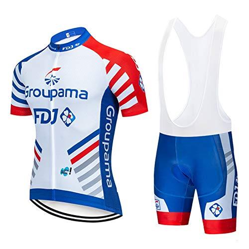 STEPANZU Abbigliamento Ciclismo PRO Estivo Abbigliamento MTB Uomo e Pantaloncini Imbottiti in Gel Completo Ciclismo Squadre Uomo Body Ciclismo