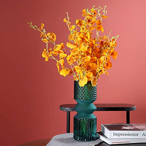 Decorative American ornaments embossed hydroponic flower arrangement glass vase home design soft decoration model room vase 10 * 10 * 25cm