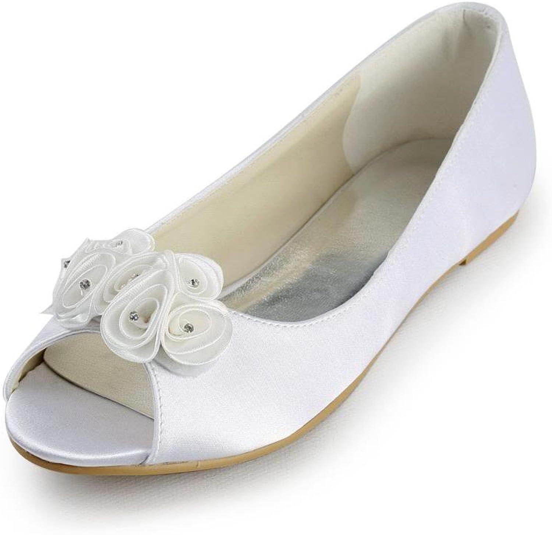 Jia Jia Women's Bridal 3683A Peep Toe Hight Heel Satin Wedding shoes