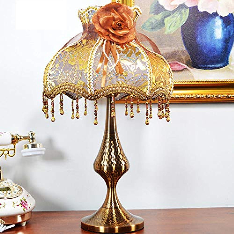 Wghz American Retro Style Tischleuchte, Schlafzimmer Wohnzimmer Studie Hotel Nachttischlampe Kreative Dekor
