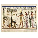 SYBS Decoración de la Pintura de la Lona Pintura egipcia Antigua Horus Heirogyphics Póster con impresión de Arte Decoración de la Pared del hogar-70x90cm1pcs Sin Marco