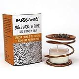 Brucia Incenso in Rame Palo Santo- Sublimatore per Accendere e Bruciare Resine ed Oli Essenziali - Include 2 g di Resina Naturale Palo Santo dal Perù
