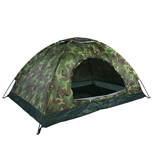 VGEBY 2 Personnes Tente de Camouflage Anti-UV, Tente de Camping Dôme, Piquets de Tente Etanche, Bâtons, Sac de Rangement pour Le Camping la Randonnée,avec Sac à Dos