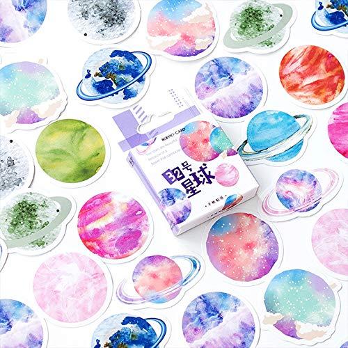 YRBB 40Stks/doos kleur schattig marmer papier Sticker decoratie Decal Diy Album Scrapbooking Seal Sticker briefpapier materiaal escol