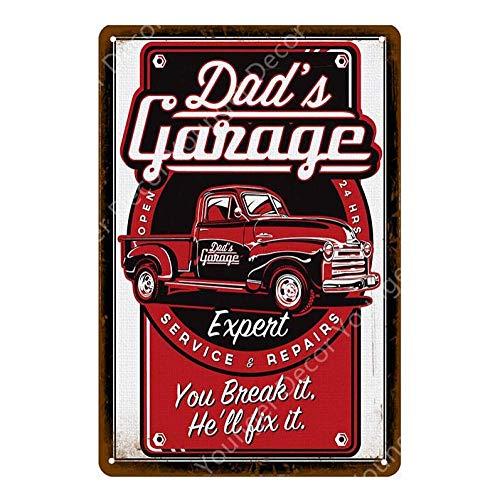 Shovv Metalen tin teken Hot Rod garage reclame beschildering metalen poster Vintage Muursticker Auto Bus Motor Banden Shop Decor Schilderen teken 20*30cm #015