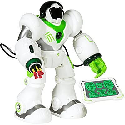 Best Choice Products Remote-Control Intelligent RC Talking Walking Robot Action Toy w/ Darts, Lights, Music - White