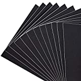 Adhesive Black Foam Padding, 12 Inch Length X 8 Inch Width X 1/16 Inch Thickness Rubber Sheet Neoprene Sponge with Adhesive Black Foam Sheet (12Pcs)