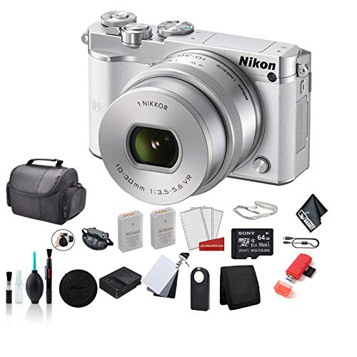 Great Features Of Nikon 1 J5 Mirrorless Digital Camera Kit with 10-30mm Lens (White) Full HD 1080p/6...