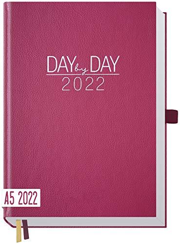 Chäff Organizer Day by Day 2022 A5 [Berry] 1 Tag 1 Seite | Hardcover Tageskalender 2022 A5, Tagesplaner, Terminkalender, Terminplaner, Kalender | nachhaltig & klimaneutral
