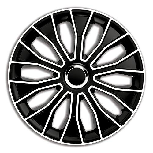 4er Set Radkappen Radzierblenden Radabdeckungen Modell Voltec Pro Schwarz und Weiss 15 Zoll