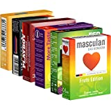 Kondomotheke®'s Condoms Selection: Fruity Tasty Mega Mix SIXPACK (ESP, Masculan, More Amore, Pasante, Playboy, Vitalis) - 18 condones con sabor