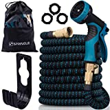 SPRINGLE Flexible Garden Hose 50ft - Expandable and Retractable with 9 Spray Pattern, Lightweight and Collapsible Kink Free Usage for Outdoor