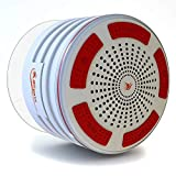 iFox iF013 Bluetooth Shower Speaker - 100% Waterproof Shower Radio. Wireless It Pairs to All Bluetooth Devices - Phones, Tablets, Computer, Games (White)