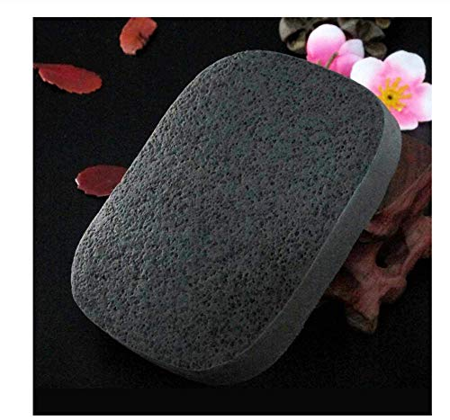 KUSAWE Éponge de maquillage 2 PCS Naturel Noir Charbon De Bambou Visage Nettoyer La Fibre De Bois Nettoyant pour Le Fibre De Nettoyage De La Fibre Beauté Maquillage Accessoire Nettoyage Puff