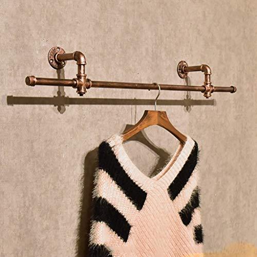 M-J Vintage Kleding Hang Rack op kleding Stijlvolle Eenvoud Handdoek Rack Vintage IJzeren Wanddoek Hanger Kleding Winkel Kleding Rack Grootte: 15 * 13 * 94Cm, a