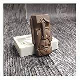Tbaok Silicone Molds, Easter Island Moai Head Stone Statues Ice Cube Trays, for Hot Chocolate Bombs, Coco Bomb, Large Ice Ball Maker for Homemade Juice (B)