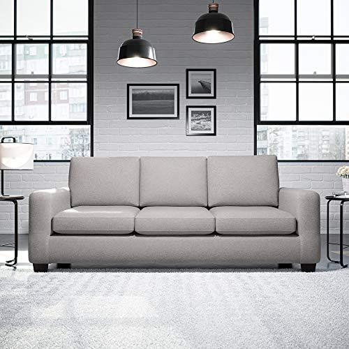 Everlane Home Wasatch Sofá tapizado con brazos acampanados – Sofá moderno de mediados de siglo, sofá, gris paloma