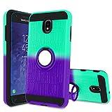 J7 2018 Case with HD Screen Protector,Atump Ring Holder & Kickstand Bracket Phone Cover for Samsung Galaxy J7 Aero/J7 Top/J7 Crown/J7 Aura/J7 Refine/ J7 Eon /J7 Star/J7 2018 Mint/Purple