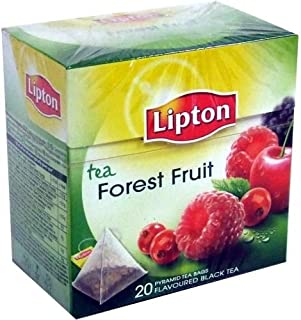 [Pack of 6] Lipton Black Tea - Forest Fruit - Premium Pyramid Tea Bags (20 Count Box)