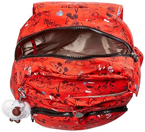 Kipling D Citypack, Women's Backpack, Multicolour (Sketch Red)