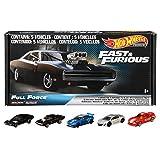 Hot Wheels Fast & Furious: Full Force Re-Release 5 Premium All-Metal Castings Real Riders wheels in Original Packaging in One Exclusive Bundle Box
