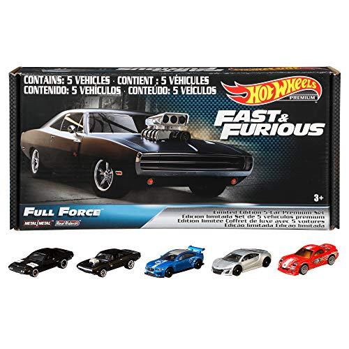 Hot Wheels Collector, Paquete de 5 Autos Fast & Furious, Vehículos de Juguete
