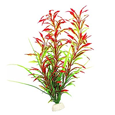 Verlike Artificial Aquarium Plants, Fish Tank Decorations Home Decor Plastic Plant Red by Verlike