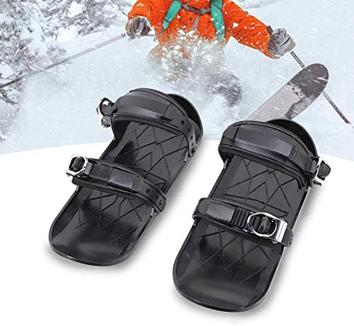 Supertop Tragbare Skischuhe, Mini-SkischuheFür Schnee, Verstellbare Kurze Ski Board Schneeschuhe, Leicht Zu Tragen - Für Herren Und Damen, Skischuhe, Outdoor-Ski, Mini-Schlitten (39,5x18,5cm)